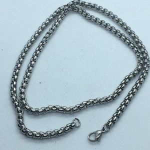 Silver Tone Stainless Steel? Chain 22""